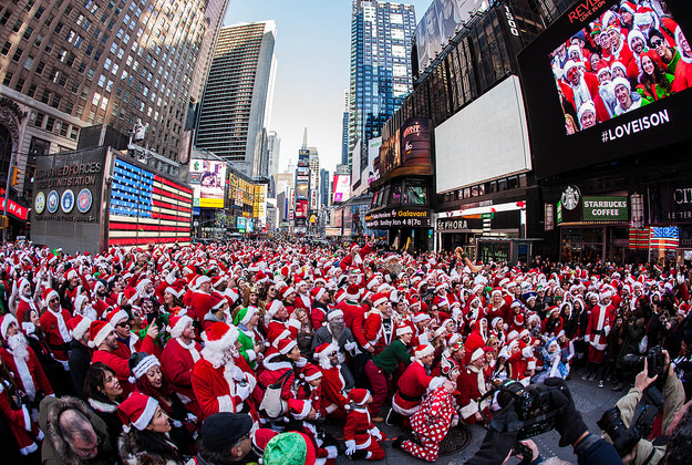 Santa Clauses in the dock after running amok in New York