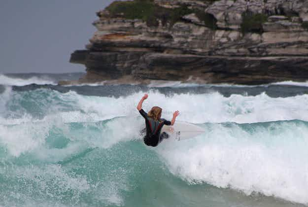 Sydney surfer has lucky escape at Bondi Beach