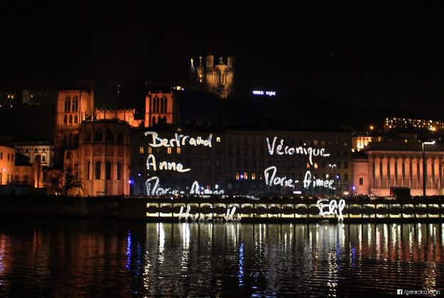 Lyon lights up in tribute to victims of Paris attacks
