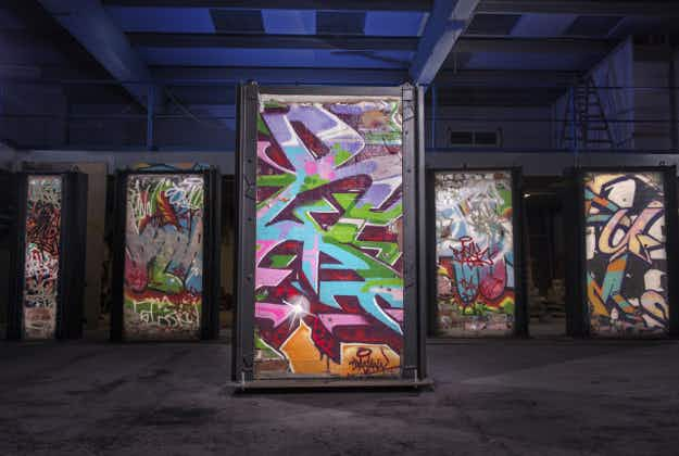 Graffiti walls from iconic Dublin recording studio to be auctioned for charity