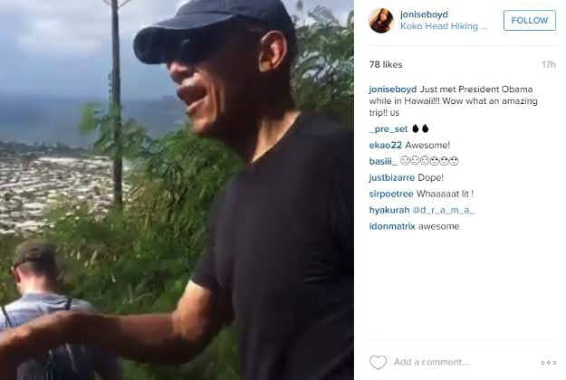 Obamas surprise hikers on Hawaii's Koko Crater Trail
