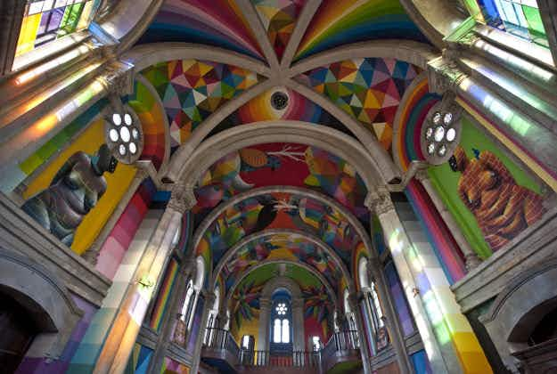 Former Spanish church now a colourful skate park