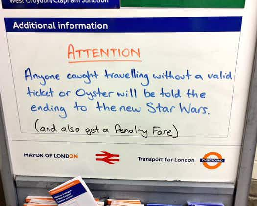 TfL threatens London fare dodgers with Star Wars spoilers
