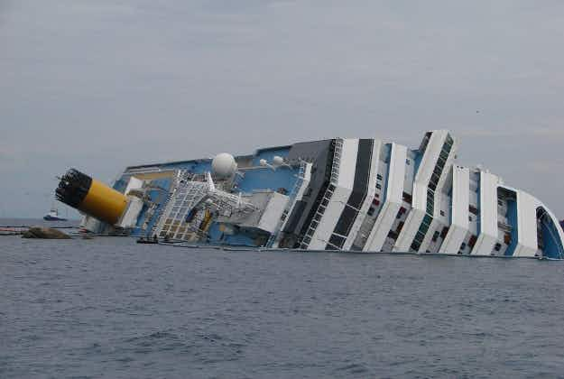 Haunting pictures from inside the wrecked Costa Concordia