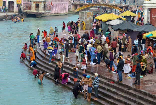 Golden Baba shines at Ardh Kumbh Mela in Haridwar