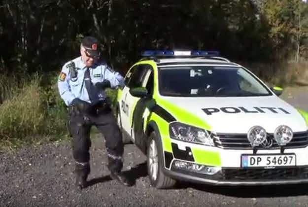 Norwegian policeman channels Rihanna to connect with public