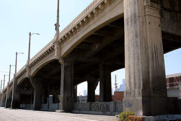Angelenos bid farewell to iconic movie bridge