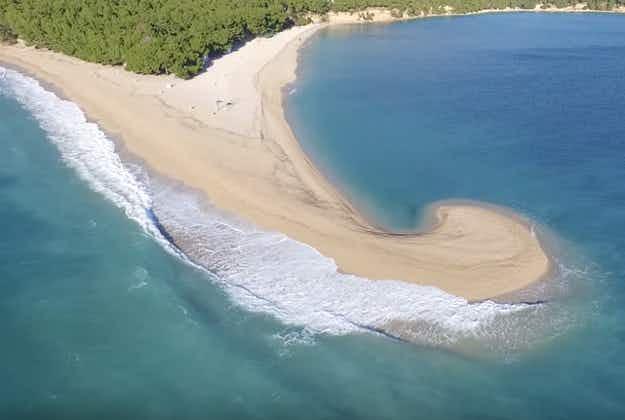 Iconic Croatian beach bent double by freak winds