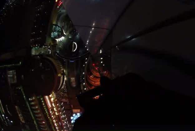 Photographer films escape from 48th floor of burning Dubai building