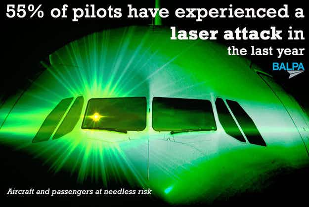 Pilots bid to have lasers declared offensive weapons