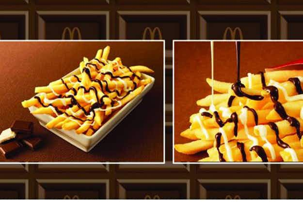 Chocolate-covered fries on offer at McDonald's in Japan