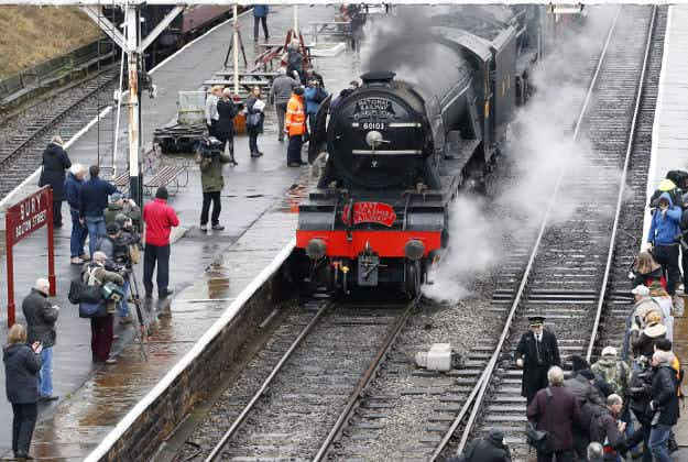 Full steam ahead! Flying Scotsman back on track after 10 years