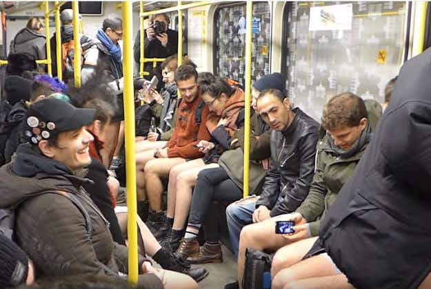 People around the world mark annual No Pants Subway Ride