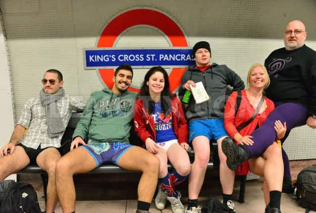 London commuters gear up for No Trousers Tube Ride