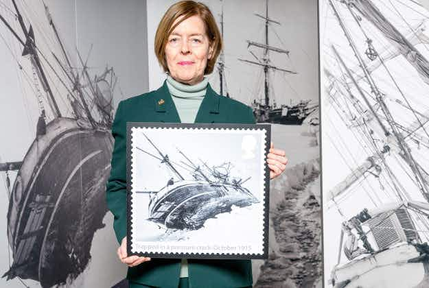 Shackleton's epic Antarctic trip marked in stamps