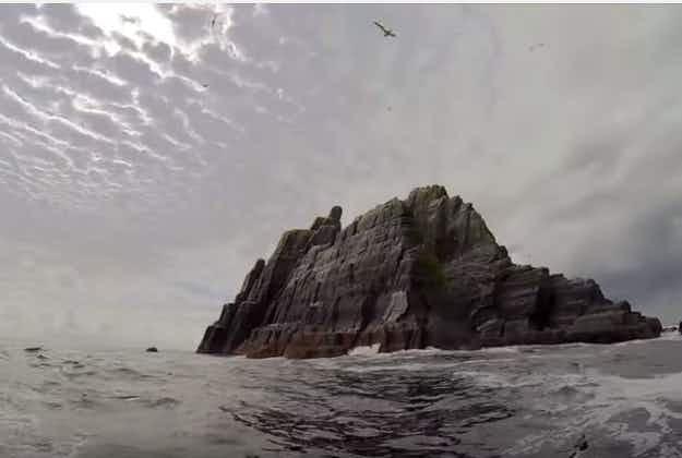 Vintage footage of Skelligs emerges in music video