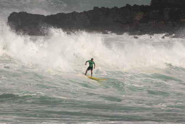 Rare big wave surfing contest takes place in Hawaii