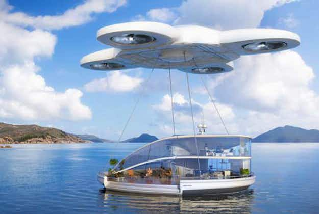 Space travel and holiday home-carrying drones: travel in 2116