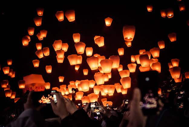 Taiwan's sky lantern festival ready to open in Pingxi
