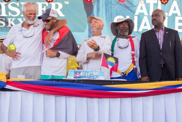 Antigua rowers break world Atlantic crossing record