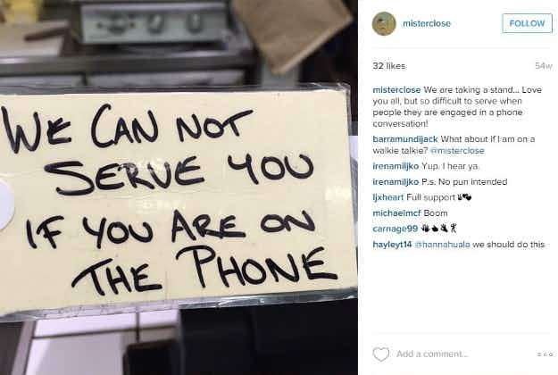 Drop the call: some Melbourne cafes want customers to put down their mobiles