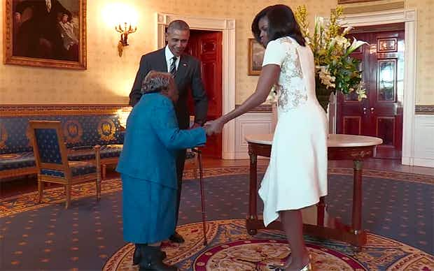 106-year-old turns White House visit into dance party