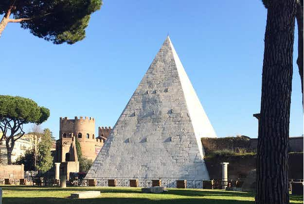 Rome's only surviving ancient pyramid restored