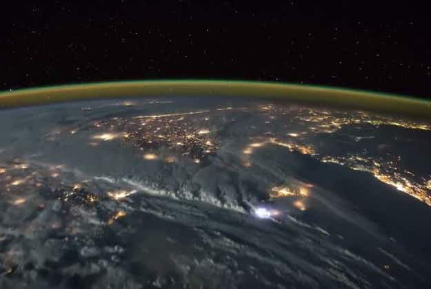 Astronaut posts amazing time-lapse video of lightning storm