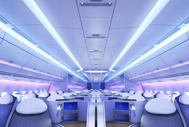 Airbus releases brand new slick cabin design featuring 3D screens and self-cleaning toilets
