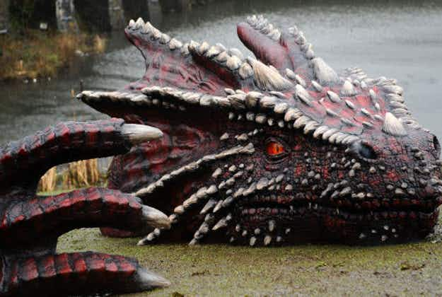 Dragons add fire to St David's Day celebrations at Welsh Castle