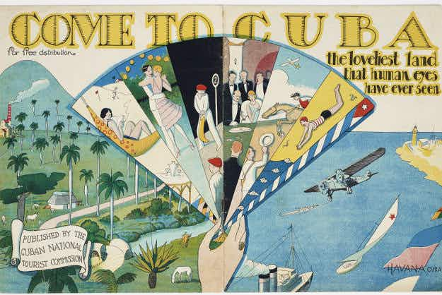 New museum exhibit shows off vintage travel ads enticing Americans to visit Cuba