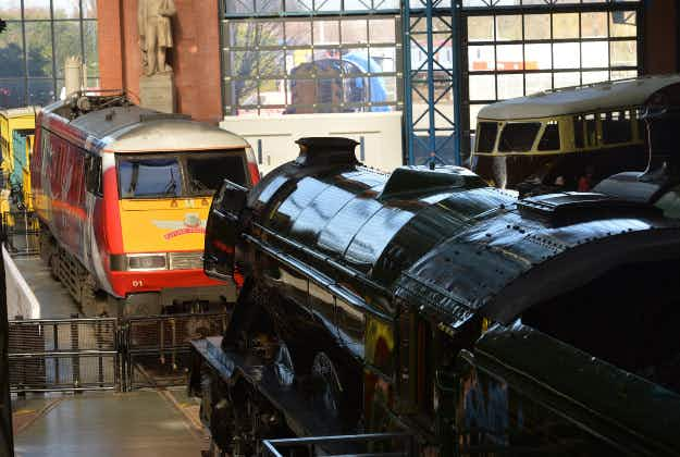 Famous Flying Scotsman steam train comes face to face with its modern day equivalent