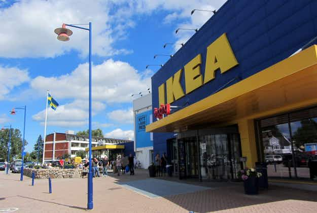 Kanye causes a stir on trip to Ikea HQ in Sweden