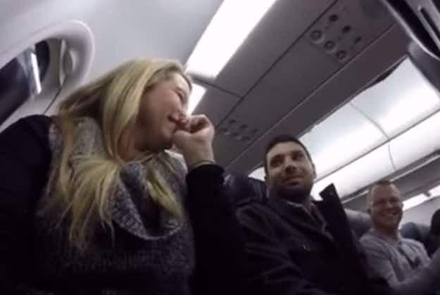 Pilot reveals passenger is set to become a dad