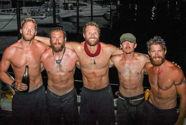 Fastest crew to row the Atlantic enter record books after feat that saw them capsize three times and go on