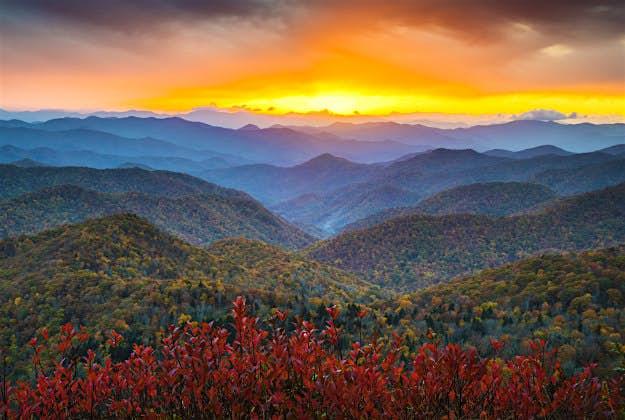 The Blueridge mountains