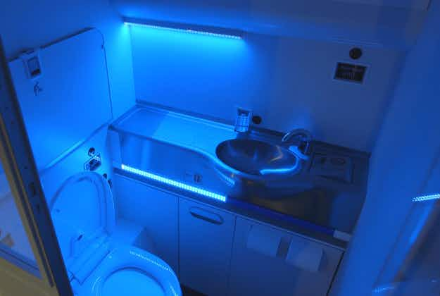 The germ-free airplane bathroom of the future