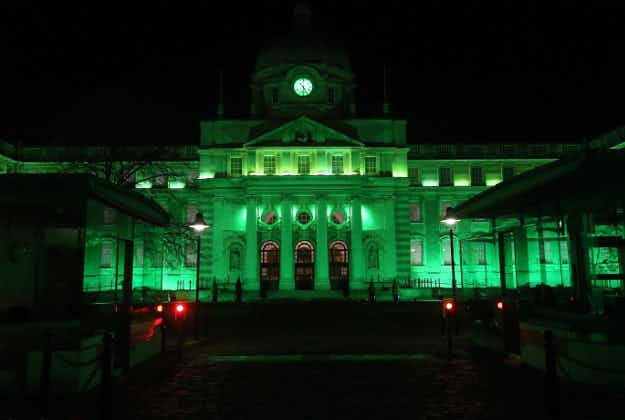 200 shades of green: national monuments around the world light up for St Patrick's Day