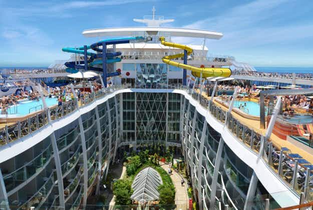 Take a look at the massive new cruise ship that features a 10-storey slide, a robotic bar and a zip-line