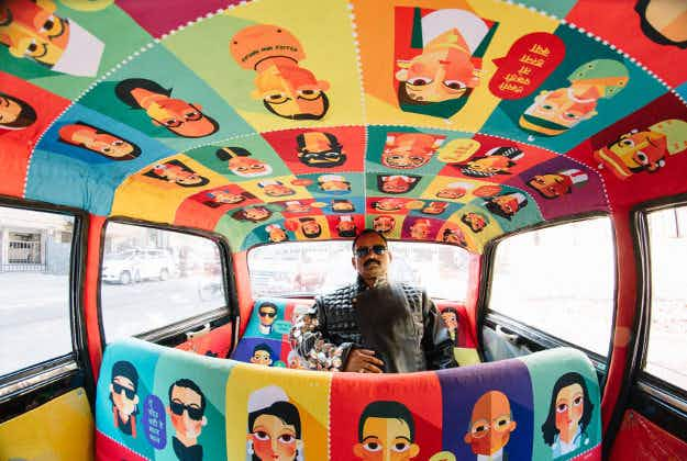 Mumbai taxis get a make-over from local designers