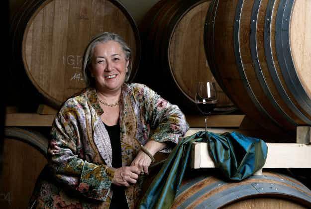All-female vineyard making wine in the Tuscan hills