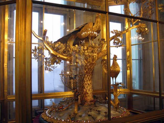 The famous Peacock Clock in St Petersburg's Hermitage Museum can be visited again