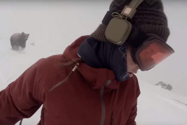 The bear truth: is this snowboarder really being chased by a bear in this video, or is it faked?