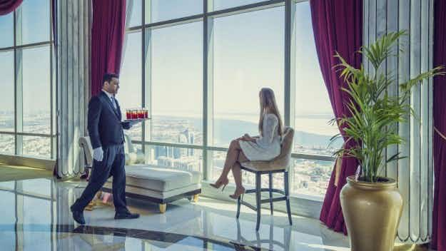 Now you can have an extremely fancy brunch in the world's highest suspended hotel suite in Abu Dhabi