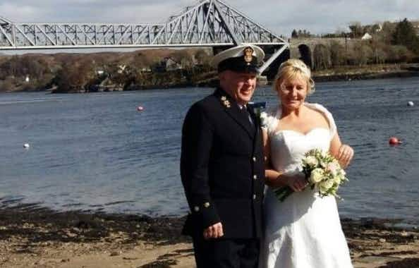 Love on the run(way): Cabin crew member says 'I do' at Scottish airport