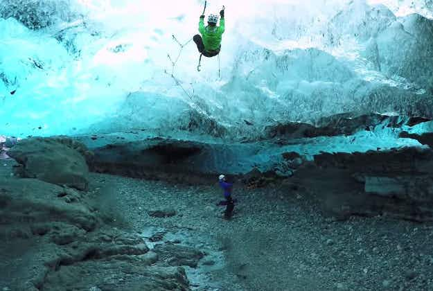 Climbers' GoPro footage captures Iceland's awe-inspiring ice structures