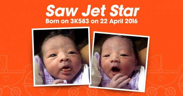 Welcome Jet Star! Baby born on a plane is named after the airline his mother was flying on