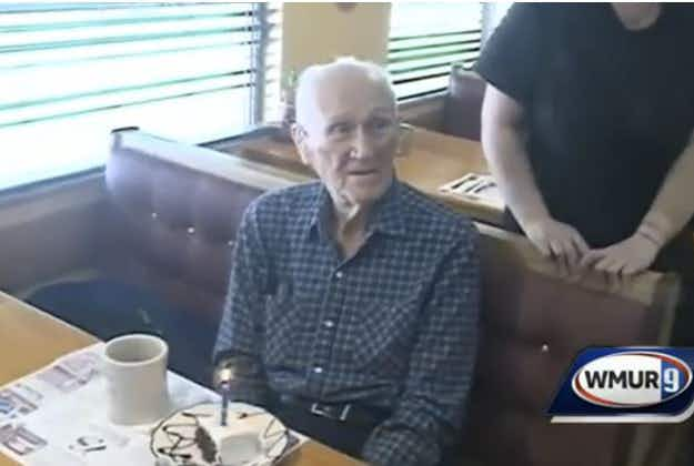 101 year-old gets free breakfast in New Hampshire and a $0.07 refund