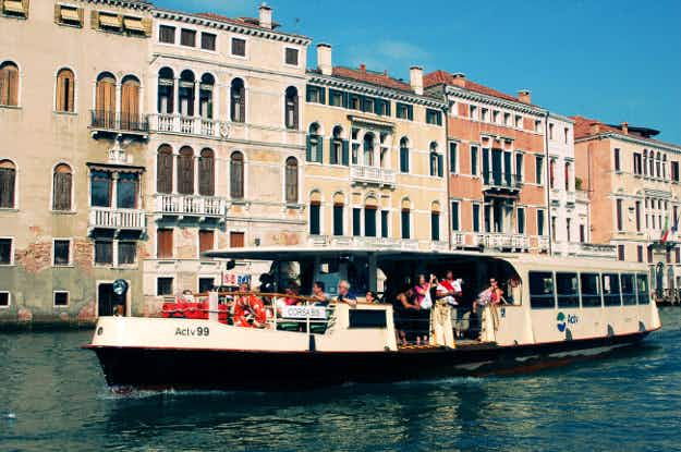 City authorities give disgruntled locals priority over tourists for water buses in Venice