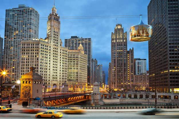 Chicago set to get glass gondolas that will see tourists ride high above the Windy City